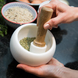 Pestle and mortar - making healthy nutritious food